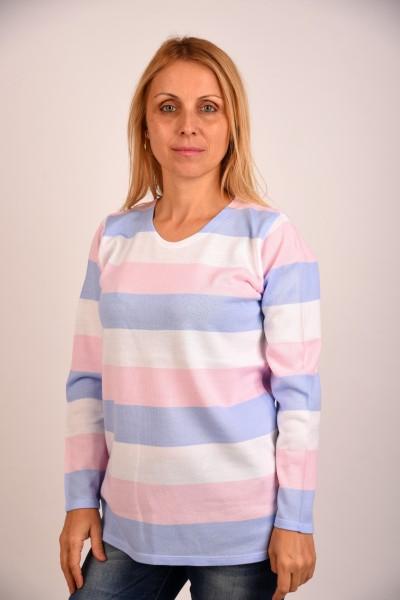 блуза райе в розово и синьо