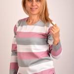 Блуза в сиво и розово
