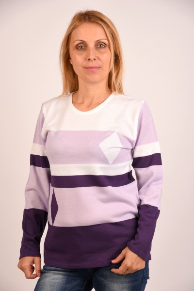 Блуза лилав Ромб