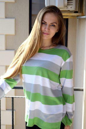 блуза в зелено и сиво